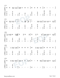 Cowboy Like Me-Taylor Swift-Numbered-Musical-Notation-Preview-7
