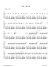 Girl like Me-Numbered-Musical-Notation-Preview-1