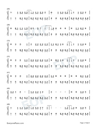 The Last Great American Dynasty-Taylor Swift Numbered Musical Notation Preview 2