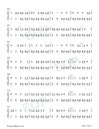 The Last Great American Dynasty-Taylor Swift Numbered Musical Notation Preview 3