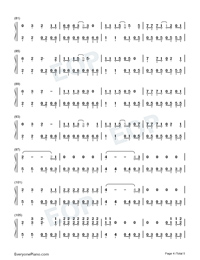 The Last Great American Dynasty-Taylor Swift Numbered Musical Notation Preview 4