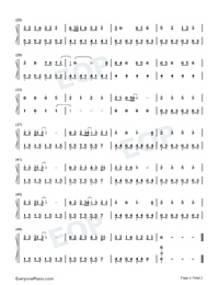 Counting Stars-Easy Version Numbered Musical Notation Preview 2