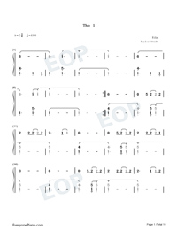 The 1-Taylor Swift Numbered Musical Notation Preview 1