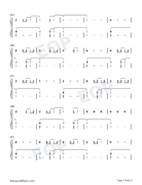 The 1-Taylor Swift Numbered Musical Notation Preview 2