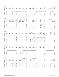 The 1-Taylor Swift Numbered Musical Notation Preview 3