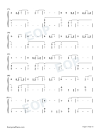 The 1-Taylor Swift Numbered Musical Notation Preview 4