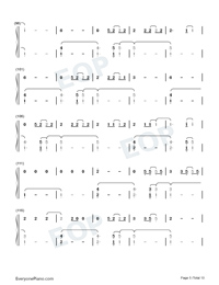 The 1-Taylor Swift Numbered Musical Notation Preview 5
