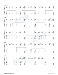 The 1-Taylor Swift Numbered Musical Notation Preview 6