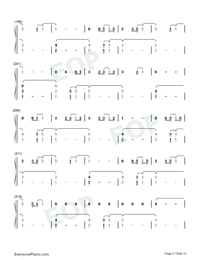 The 1-Taylor Swift Numbered Musical Notation Preview 9