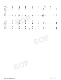 Fly To My Room-BTS Numbered Musical Notation Preview 6
