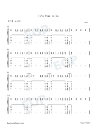Its Time to Go-Taylor Swift-Numbered-Musical-Notation-Preview-1