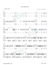 De Una Vez-Selena Gomez-Numbered-Musical-Notation-Preview-1