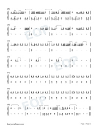De Una Vez-Selena Gomez-Numbered-Musical-Notation-Preview-2