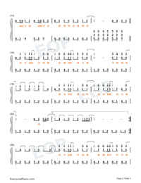 Star and Sea-Easy Version-Numbered-Musical-Notation-Preview-2