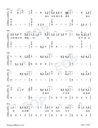 Appear And Leave-TikTok Hot Song-Numbered-Musical-Notation-Preview-3
