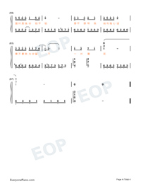 Is Your Place Snowing Numbered Musical Notation Preview 4