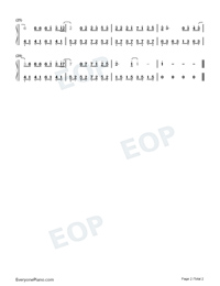 I Should Love You-Easy Version-Drama Go Go Go ED Numbered Musical Notation Preview 2