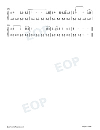 Suddenly I Am Touched-Easy Version-Prince of Lan Ling ED-Numbered-Musical-Notation-Preview-2