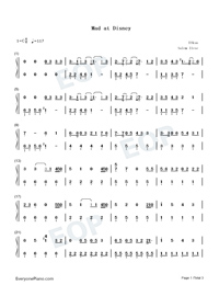 Mad at Disney-Salem Ilese Numbered Musical Notation Preview 1
