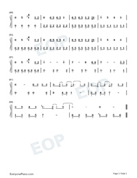 Mad at Disney-Salem Ilese Numbered Musical Notation Preview 3