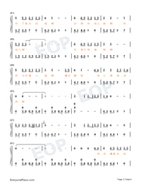 Yilan Love Story-Hi Mom ED Numbered Musical Notation Preview 3