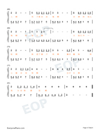 Yilan Love Story-Hi Mom ED Numbered Musical Notation Preview 4