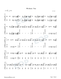 Without You-The Kid Laroi-Numbered-Musical-Notation-Preview-1