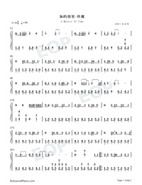 A Matter Of Time-Full Version-Numbered-Musical-Notation-Preview-1