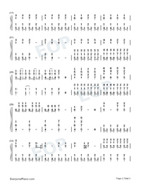 Travel of Time-Piano Accompaniment-Numbered-Musical-Notation-Preview-2