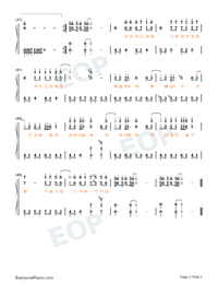 The Youth on a Horse-Doulou Continent Theme-Numbered-Musical-Notation-Preview-3