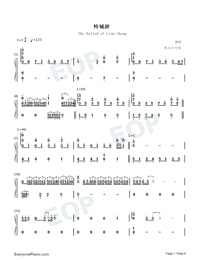 The Ballad of Lian Cheng-Heaven Officials Blessing Season 2 Theme-Numbered-Musical-Notation-Preview-1