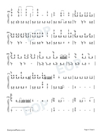The Ballad of Lian Cheng-Heaven Officials Blessing Season 2 Theme-Numbered-Musical-Notation-Preview-4
