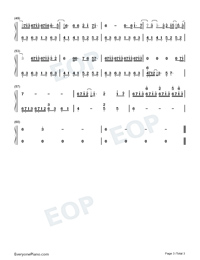 Ambition-The Soul Promotional Song-Numbered-Musical-Notation-Preview-3
