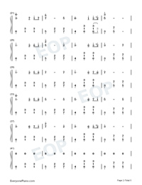 Dancer in Yellow Dress-Original Music Numbered Musical Notation Preview 2
