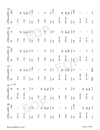 Dancer in Yellow Dress-Original Music Numbered Musical Notation Preview 3