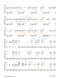 Parallel-Easy Version-A Writers Odyssey Theme Numbered Musical Notation Preview 3