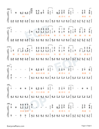 Parallel-Easy Version-A Writers Odyssey Theme Numbered Musical Notation Preview 4