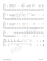Parallel-Easy Version-A Writers Odyssey Theme Numbered Musical Notation Preview 5