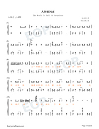 The World Is Full Of Surprises-Perfect Version-Numbered-Musical-Notation-Preview-1