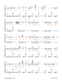 The World Is Full Of Surprises-Perfect Version-Numbered-Musical-Notation-Preview-2
