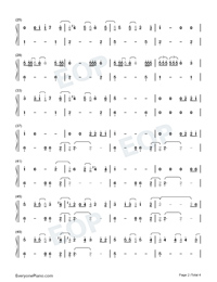 We Are Good-Dua Lipa Numbered Musical Notation Preview 2