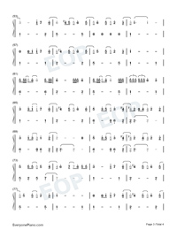 We Are Good-Dua Lipa Numbered Musical Notation Preview 3
