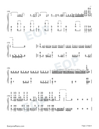 Kokou no Hikari Lonely Dark-Plunderer OP2 Numbered Musical Notation Preview 2