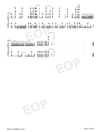Kokou no Hikari Lonely Dark-Plunderer OP2 Numbered Musical Notation Preview 4