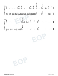 Over A Thousands Years-Guardians of the Ancient Oath Theme-Numbered-Musical-Notation-Preview-2