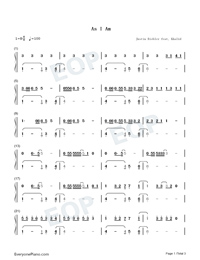 As I Am-Justin Bieber ft Khalid-Numbered-Musical-Notation-Preview-1