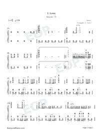 I Love-Amagami SS OP1-Numbered-Musical-Notation-Preview-1