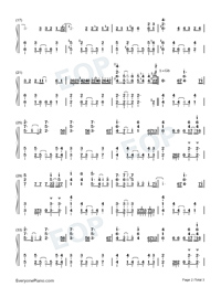 Soul Salvation-Shaman King OP-Numbered-Musical-Notation-Preview-2