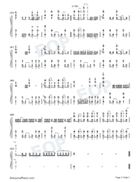 Soul Salvation-Shaman King OP-Numbered-Musical-Notation-Preview-3