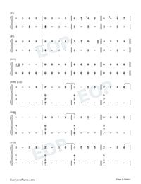 Look Up At The Stars-Shawn Mendes Numbered Musical Notation Preview 5